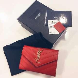 YSL信封短夾(紅色)