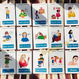 🎀 🌈DAILY ROUTINES🌈FLASH CARDS(41PCS)