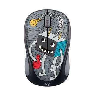 Logitech Wireless Mouse M328 Creative Cartoon_ Doodle Collection