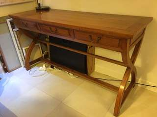Chinese Style Solid Wood Desk with 3 Drawers