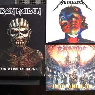 Metallica, Iron Maiden, Exodus,Black Sabbath