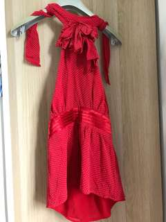 Bebe silk red top