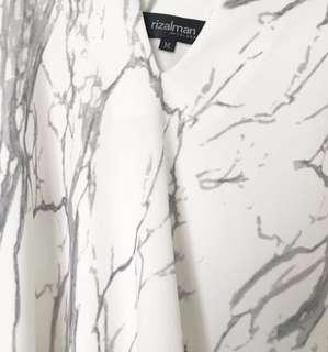 Rizalman hi lo marble kaftan #rayaletgo