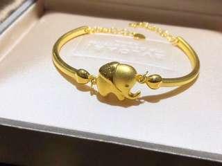 real gold 999 金 手鐲