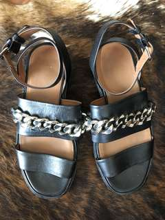 Givenchy Black Chain Sandals 37