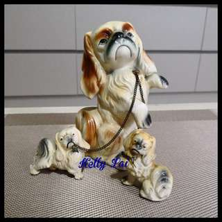50's Porcelain Dog and Puppy (A0X)