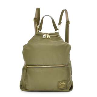 LH-K1041 [Legato Largo] Khaki Green 2Way Nylon Rucksack with Shoulder !        100% GENUINE !