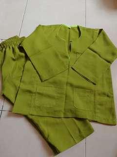 2 pasang 2 saiz Baju Melayu Budak