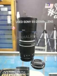 (USED) SONY A 55-200MM F/4-5.6 LENS.