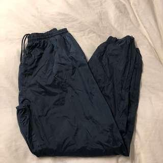 Vintage Navy Blue Windbreaker Pants