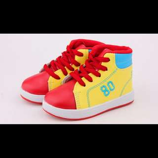 CLEARANCE 80 YELLOW & RED HIGH CUT SHOES