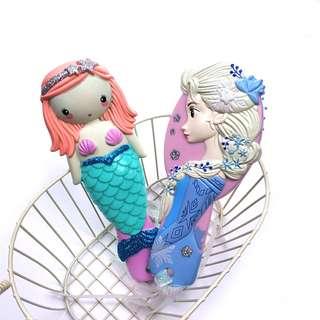 Frozen and Mermaid HairBrush