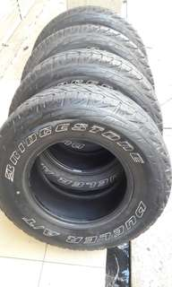 4x4 tayar at 265/70/16 bridgestone dueler