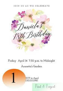 18th birthday: Invitation cards