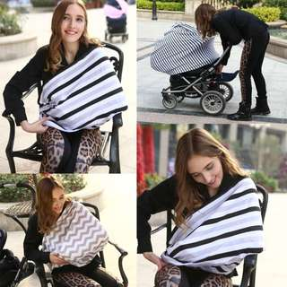 EGMAO BABY 2017 Breast Feeding Cover Soft Infant Breathable Shawl Nursing Cover Comfortable Shopping Cart Cover High Chair Cover