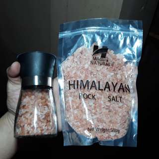 Salt Grinder With 500g Himalayan Salt