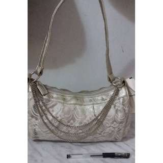 Shoulder/ Tote Bag With Chain Strap