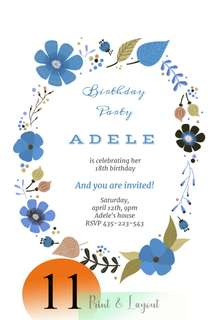 18th birthday Invitation cards