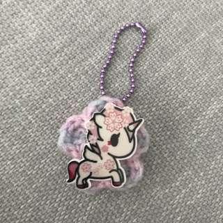Tokidoki sakura unicorno crochet flower
