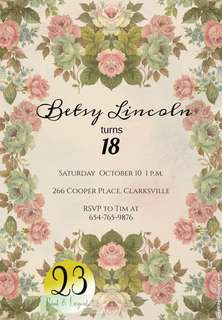 18th birthday Invitation carda