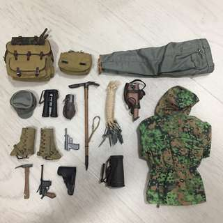 DID - 1/6 WWII - Waffen SS 13th Handschar Division SS-Obersturmbannfuhrer - Loose Items for Sell - What you see is what you get