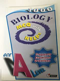 Alevels Biology 1000 MCQs with help