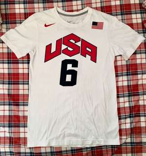 [絕版] LeBron James 2012 USA Olympic Games Jersey Number T-Shirt Tee
