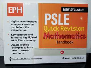 EPH PSLE Quick Revision Mathematics (Brand new)