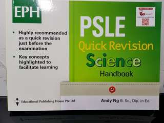 EPH PSLE Quick Revision Science Handbook (Brand new)