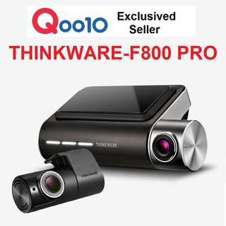 [Qoo10 Authorised Power Seller] THINKWARE F800 Pro Korean No.1 2ch Full HD Wifi Dashcam 0% 6~12mths Credit Card Instalment Plan!  Car Cam Camera Blackbox DVR