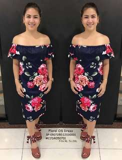 FLORAL OS DRESS ✔large to xxl ✔cottony spandex fabric 🖋floral print ✔single color