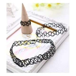 發燒韓款♥個性刺青♥項鍊+手環+戒指