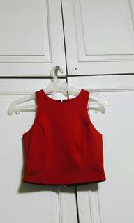 Supré Bright Red Cropped top