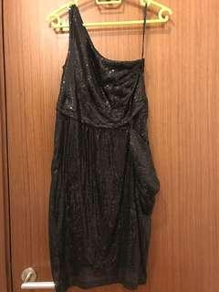 BYSI Black sequined toga Dress w pockets