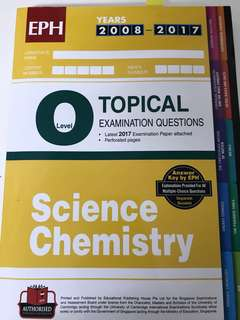 Olevels Science Chemistry topical tys