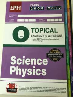 Olevels Science Physics Topical TYS