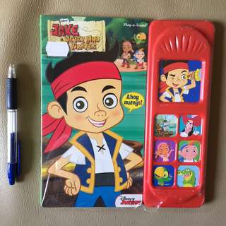 Disney Captain Jake Never Land Pirates Sound Book - Play A Sound!