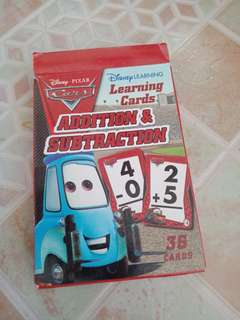 Disney Pixar World of Cars Addition & Subtraction Flash Cards