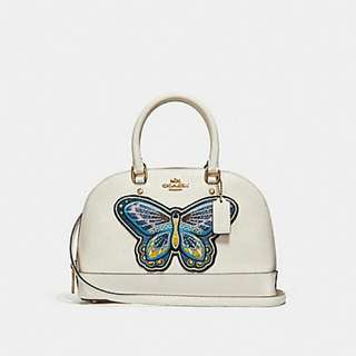 MINI SIERRA SATCHEL WITH BUTTERFLY EMBROIDERY COACH F24610