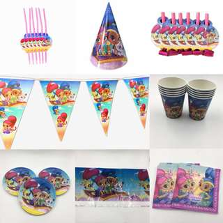 PO Shimmer And Shine Party deco