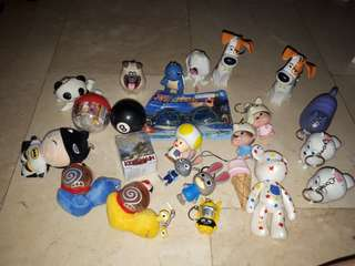 Take all these collectible keychains and stuff