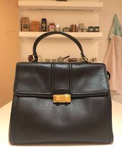 LANVIN 黑色真皮手袋 Black Genuine Leather Handbag