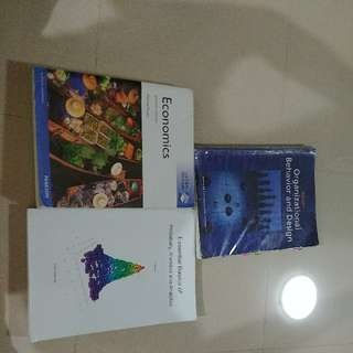 AB1202 Probability, Statistics and Analytics ($20) AB1601 Organisational Behaviour + Hardcopy BIBLE ($25) AB0901 Principles of Economics 11th Edition (Not Newest Edition but concept same) ($30)  AB1501 Marketing Textbook (Softcopy) - Free W/ Any Purchase