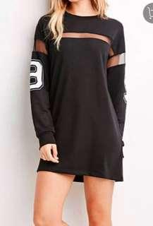 Mesh Sleeves Sweater Dress