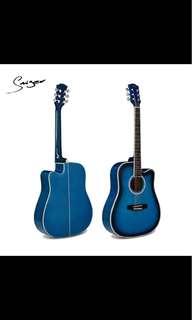 Acoustic Guitar Blue