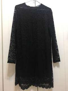 🚚 黑色蕾絲洋裝