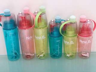 New.B Water Bottle with Spray Function