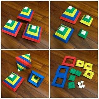 益智遊戲金字塔積木