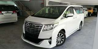 UNREG 2015 TOYOTA ALPHARD EXECUTIVE LOUNGE 3.5 V6