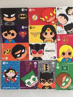 Limited Edition brand new DC Comics Superheroes Design ezlink Cards For Sale.